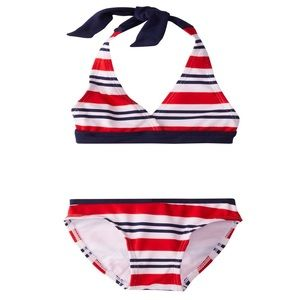 US Polo Association Girls Striped Bikini